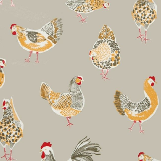 oilcloth tablecloth | Rooster Grey | simply oilcloth