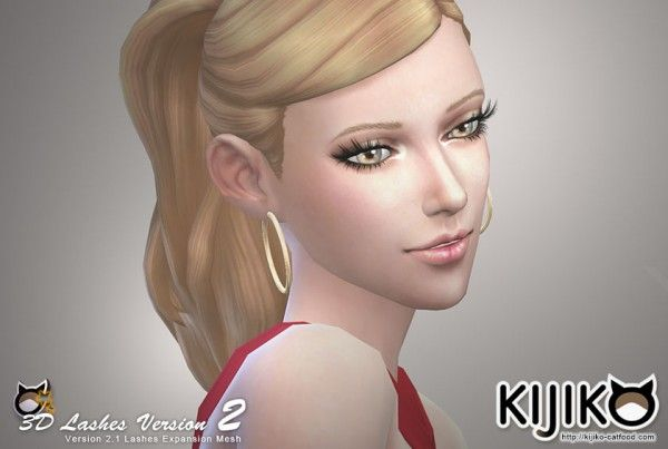 Kijiko: 3D Lashes Version2 • Sims 4 Downloads