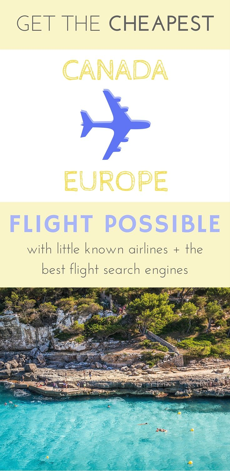 Little known airlines + the best search enginges for cheap flights Canada to Europe