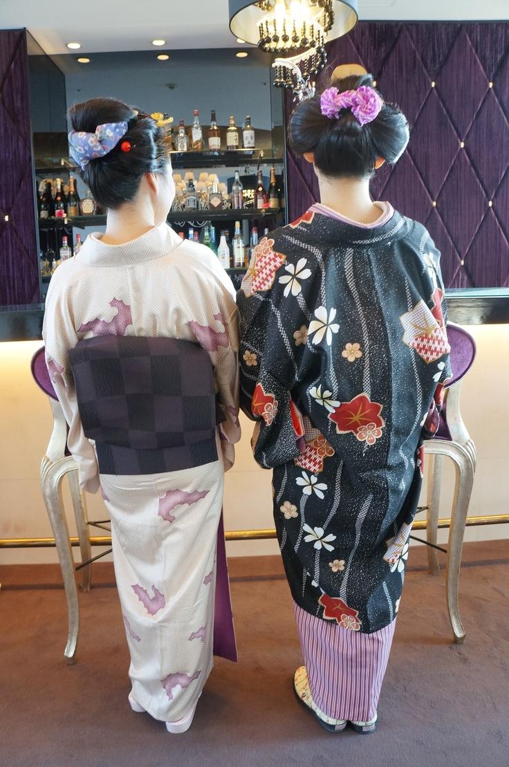 Osaka, Nihon-gami ~traditional hairstyle of Japan ~ wearing kimono and obi.
