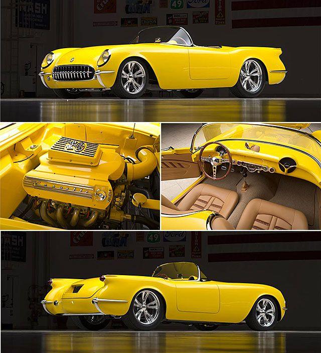 Is It Blasphemy To Customize A 1954 Corvette Not When It S The Work Of The Legendary Boyd Coddington Throttlextr Classic Cars Custom Cars Yellow Corvette