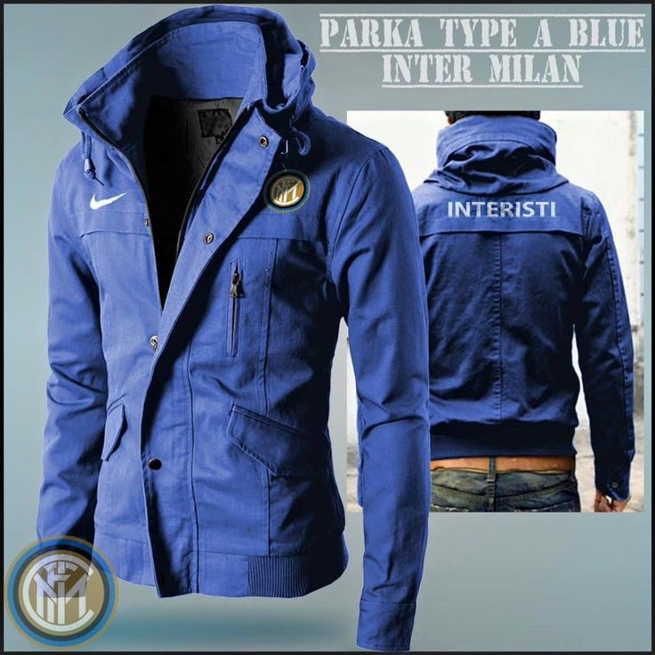 Jaket Distro Bola Parka Inter Milan Blue Type A - Jual Jaket Distro | Tas Bola | Kemeja Terbaru Harga Murah