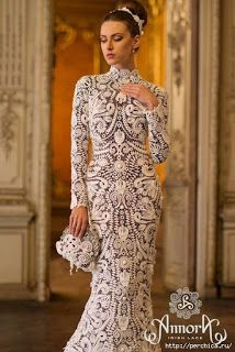 Tina's handicraft : wedding dress irish lace