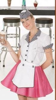 Diner Waitress 1950's Costume by HouseOfZuehl on Etsy