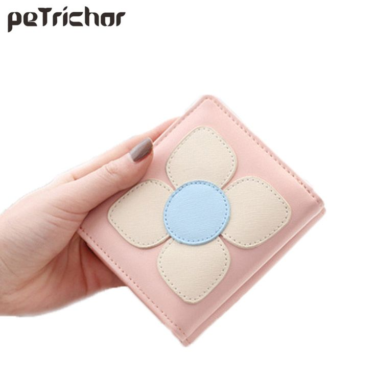 Lady Wallet Women PU Leather Hasp Short Clutch Fashion Floral Small Female  Purse Coin Pocket Credit 67414afd2ea3b