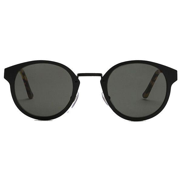 RETROSUPERFUTURE Super Panama Intellect ($339) ❤ liked on Polyvore featuring accessories, eyewear, sunglasses, women, tortoise shell glasses, black glasses, tortoise shell sunglasses, retrosuperfuture sunglasses and matte black glasses