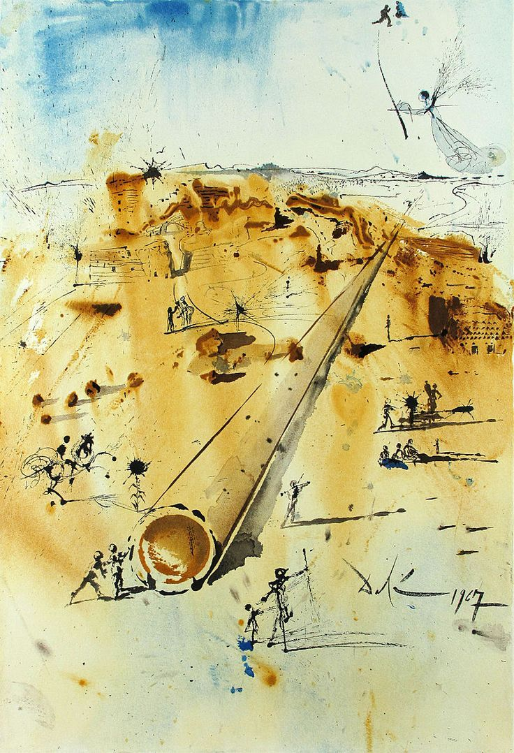 best images about salvador dali salvador salvador dali the land at the start of jewish settlement lithograph