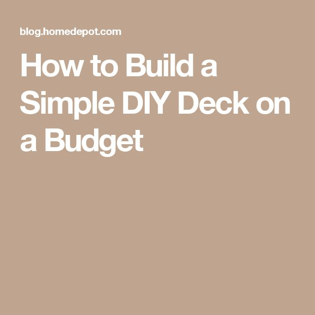 Les 9 meilleures images à propos de Backyard Decking Project sur - Budget Pour Construire Une Maison