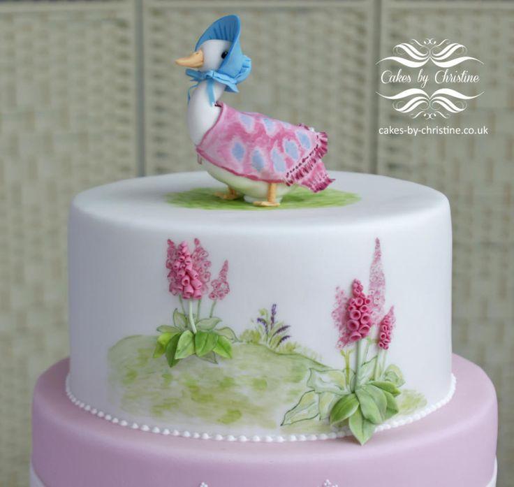 Jemima Puddleduck Christening cake - Cake by Cakes by Christine