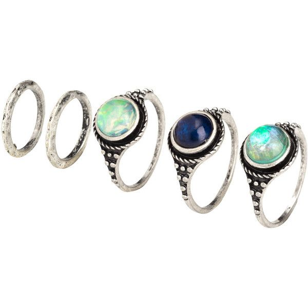 9-pack Rings $14.99 (225 ARS) ❤ liked on Polyvore featuring jewelry, rings, beaded jewelry, bead jewellery, plastic jewelry, plastic rings and beading jewelry