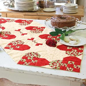 Heart Of The Home: Cheerful Valentine Table Runner Quilt Pattern Jan 2012  Issue McCalls Quilting