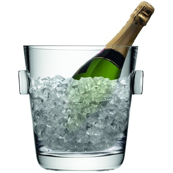 LSA Madrid Champagne Bucket (€83) ❤ liked on Polyvore featuring home, kitchen & dining, bar tools, food, drinks, food and drink, fillers, filters, wine bucket and ice bucket