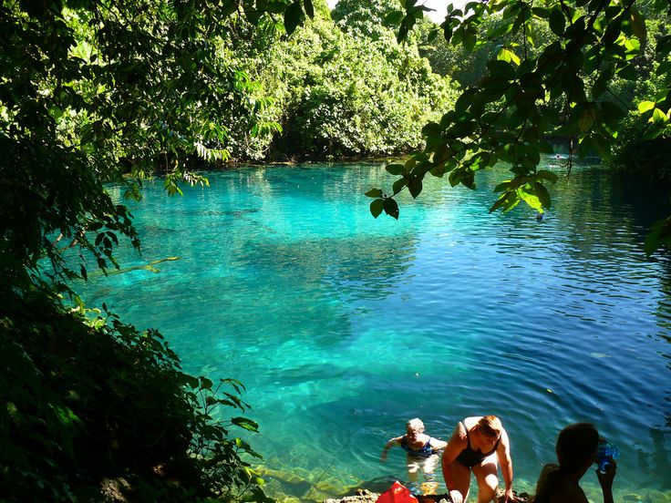 Blue Lagoon, Champagne Bay in Vanuatu where the movie Blue Lagoon was filmed. Blue Lagoon was a 1980 American romantic adventure drama film directed by Randal Kleiser. The film is a remake of a 1949 film by the same name.