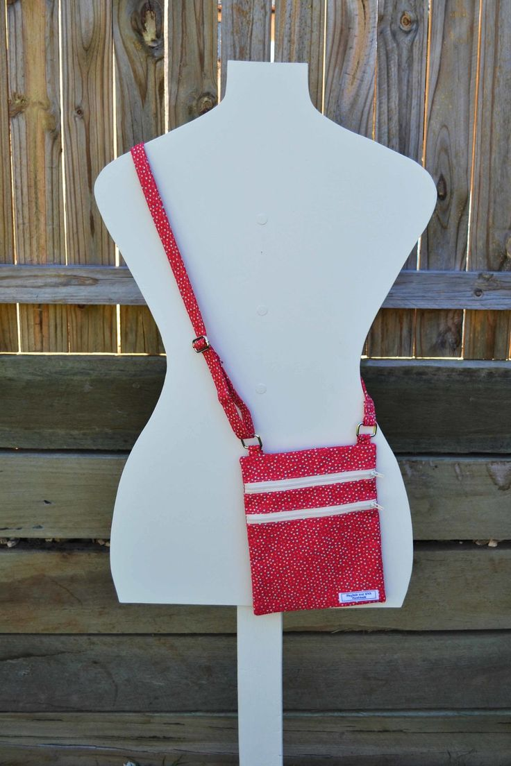 'Emily' Red Hearts Cross Body Bag