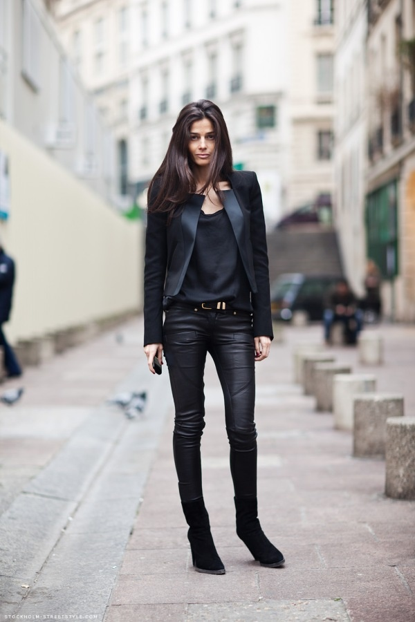 blk: Fashion, All Black, Clothing, Black Leather, Allblack, Jackets, Street Styles, Black Outfit, Leather Pants