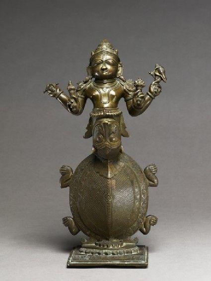 Figure of Kurma, the Tortoise incarnation of Vishnu Gujarat, 1801. India