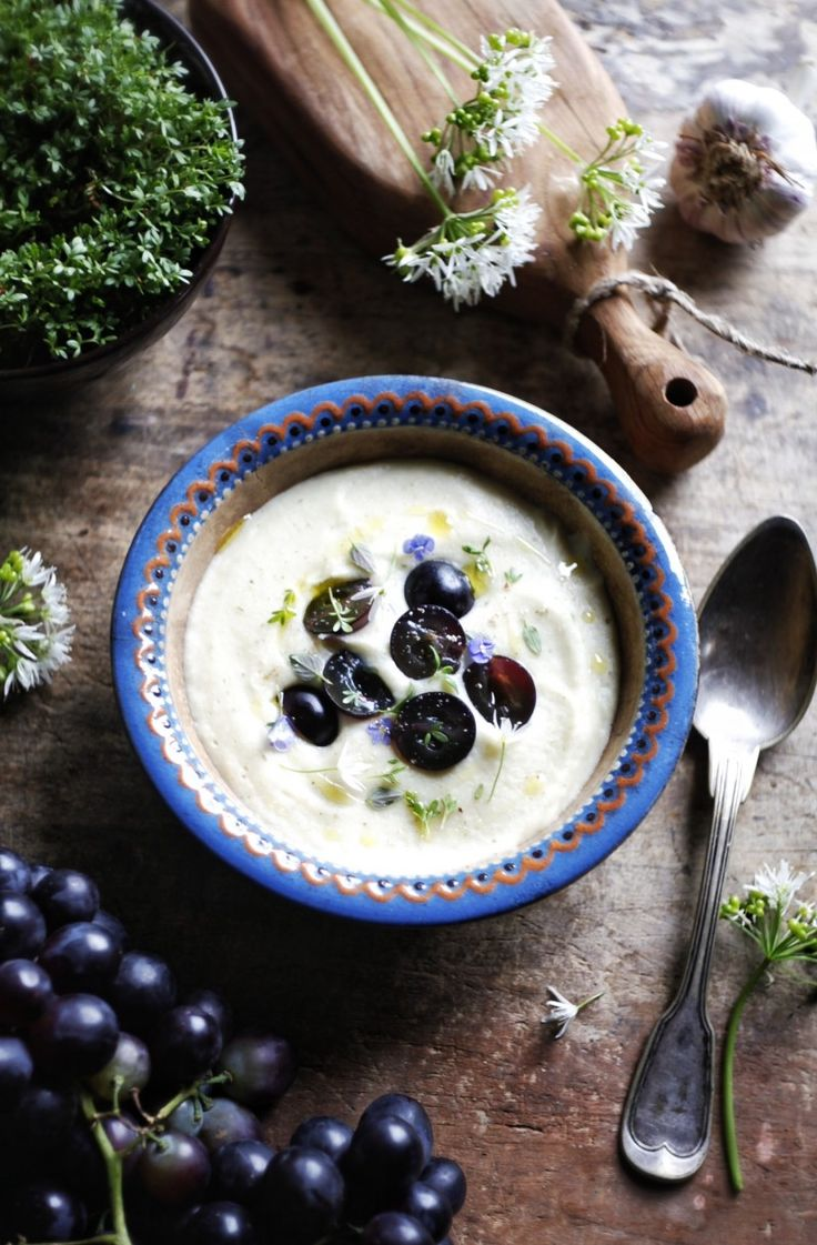 Millet Parsley Cream Soup with Roasted Garlic Recipe