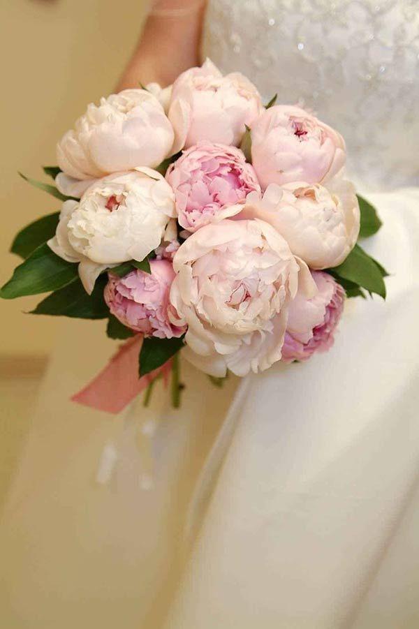 Розы розовых, дизайнерские букет для невесты 2018 пионы