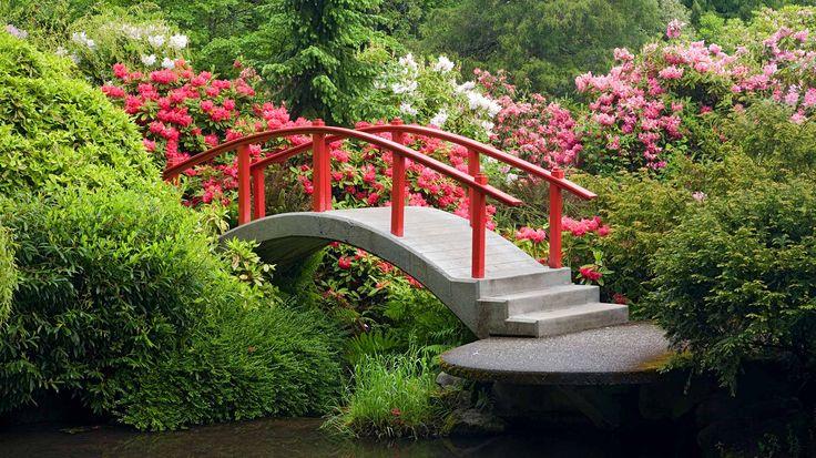 Kubota Garden Following a Japanese garden motif but with