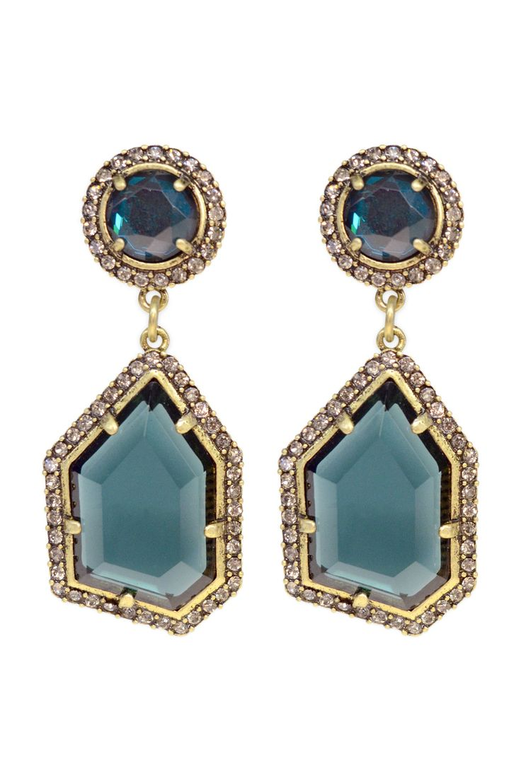 Blue Ice Crystal Earrings