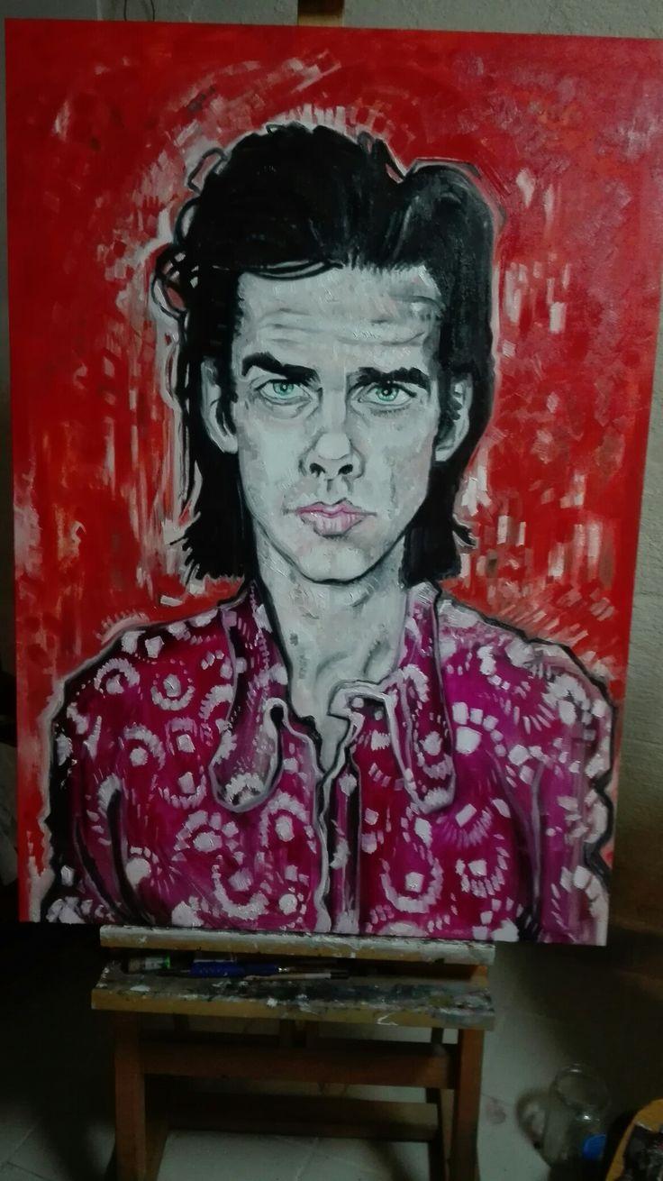 portrait of Nick Cave  artist giovanni latorre