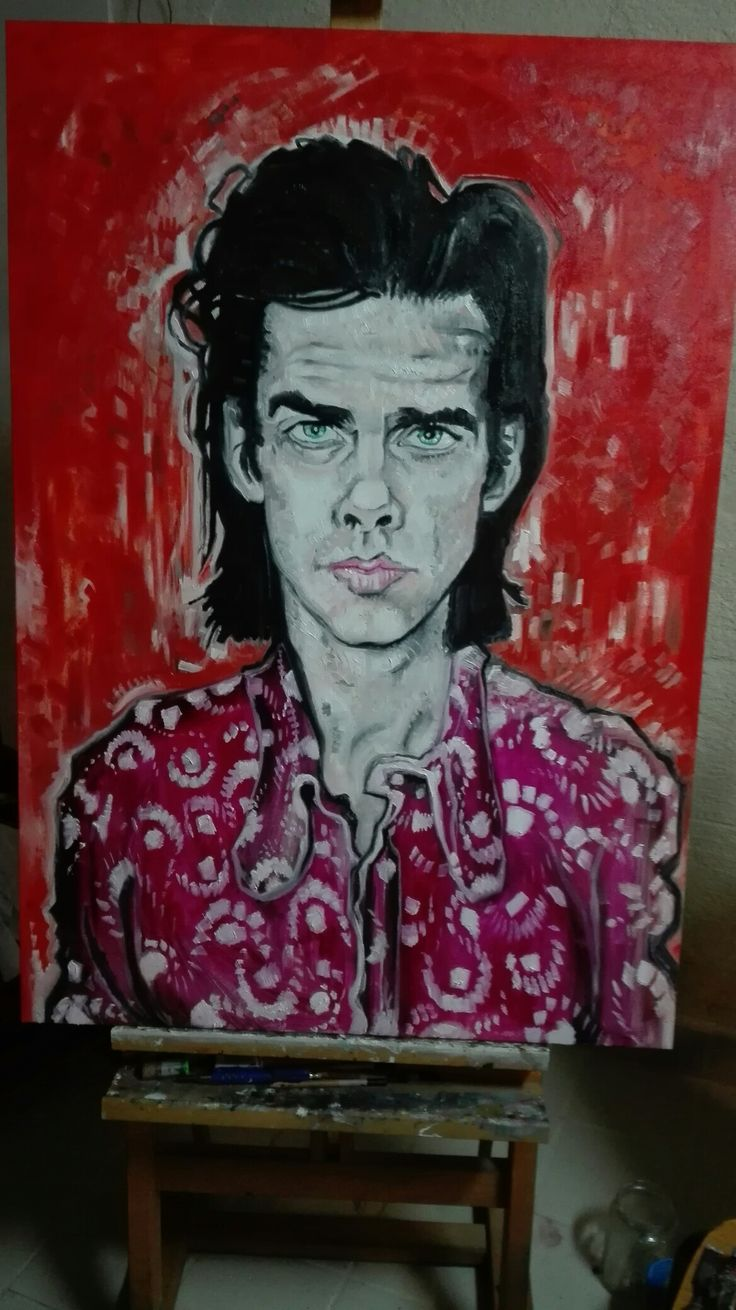 portrait of Nick Cave  artist giovanni latorre