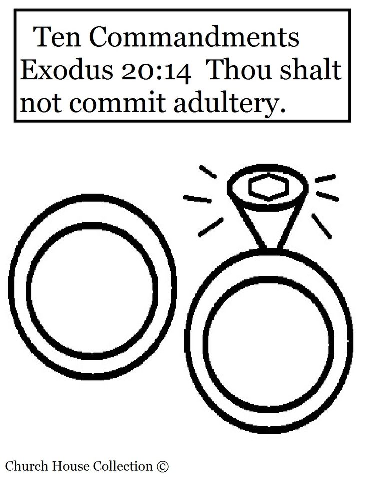 Commandment Page Ten Coloring Sheets