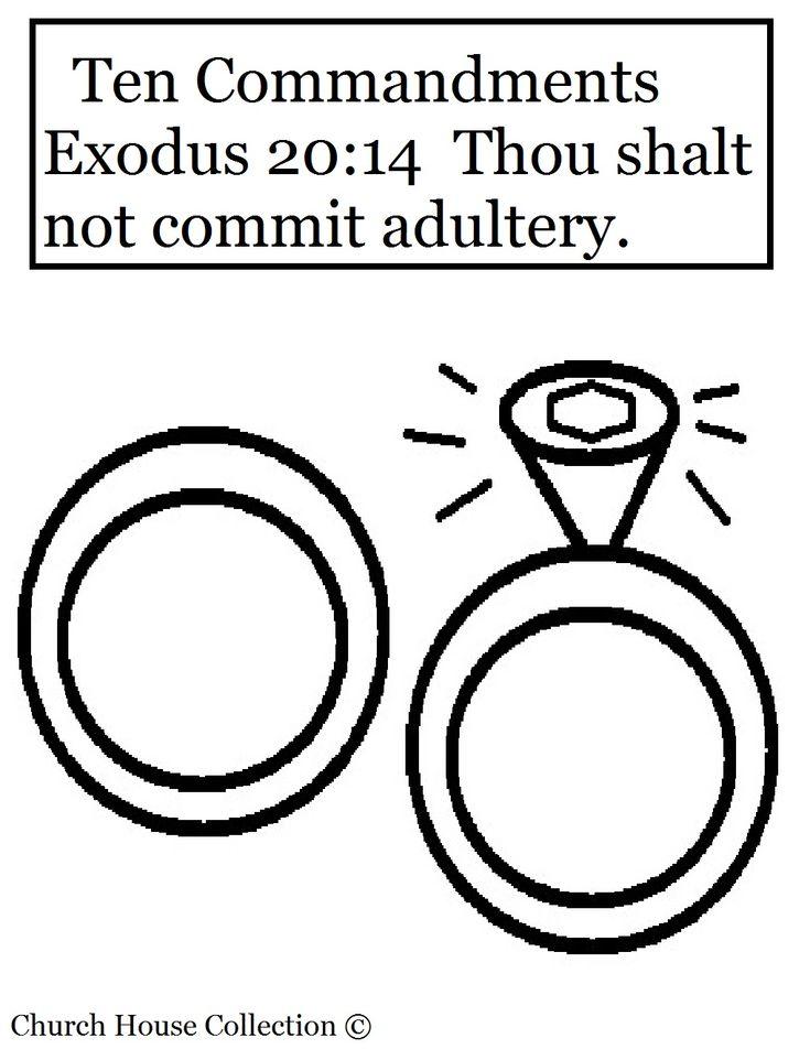 Commandment Page Ten Coloring Sheets