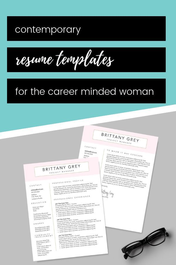 Modern Resume Bundle Professional Resume Template Executive