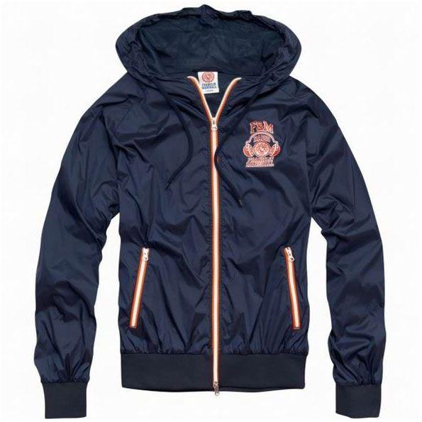 FM Navy Hoodie Varsity Jacket For Men Sale