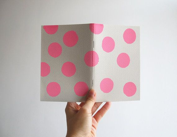 Pink dots notebook by 10antemeridiem on Etsy, $8.00