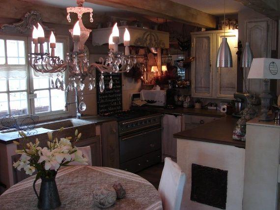 Tapis Gris Chambre Bebe : Cuisine romantique shabby deco charme  Cuisine  Pinterest