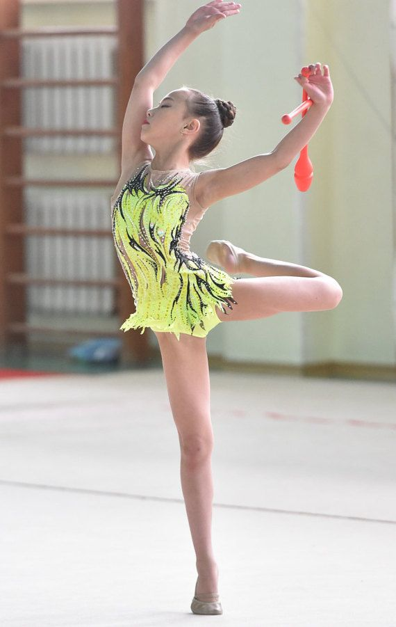 Competition Rhythmic Gymnastics Leotard ice by artmaisternia