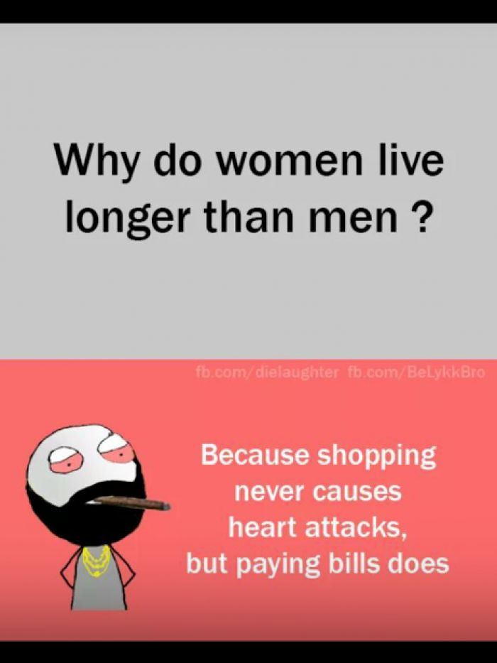 Why do women live longer than men - Funny Questions and Answers