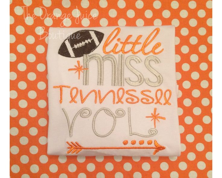 Little Miss Tennessee Vol shirt- ruffle shirt- tennessee football by OrangeJuiceBoutique on Etsy https://www.etsy.com/listing/254501660/little-miss-tennessee-vol-shirt-ruffle