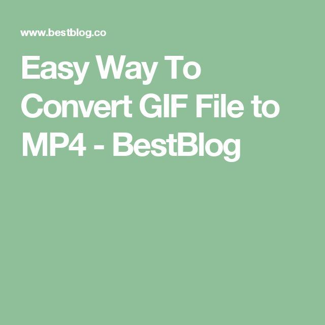 Easy Way To Convert GIF File to MP4 - BestBlog