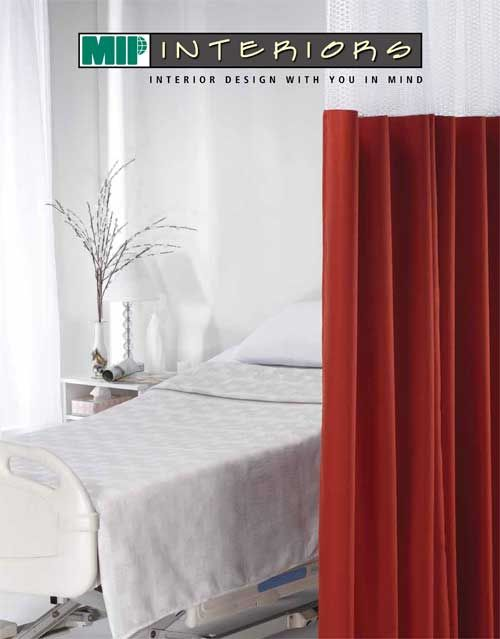 Interior Design with YOU in mind! - MIP INTERIORS - Cubicle & Shower Curtains designed to fit your needs and protect your patients/residents! http://www.mipinc.com/links/InteriorBrochureEnglish.pdf