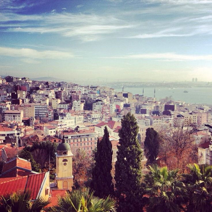 Istanbul, view from Beyoglu.
