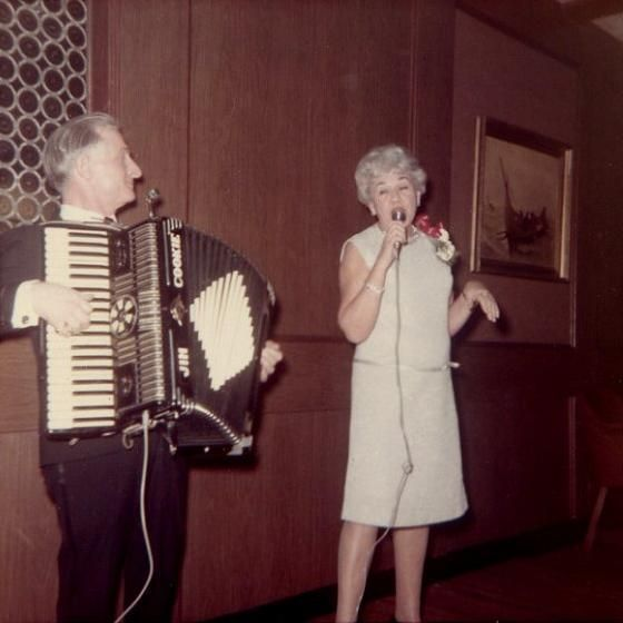 .Whenever Dorothy is at a church social and sees a hot guy with an accordion...she grabs the mic and shreds the song...Proud Mary.
