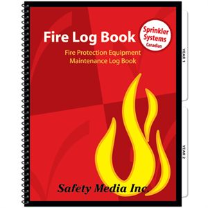 FIRE LOG BOOK SMALL SPRINKLER