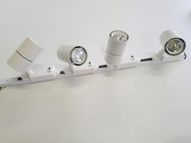 kit trilho eletrificado + 4 spot led 15w