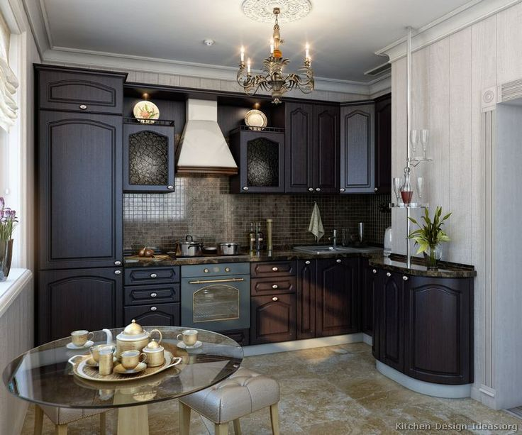 Youu0027ll Find Several Pictures Of Kitchens On This Page Featuring Dark Wood  (nearly