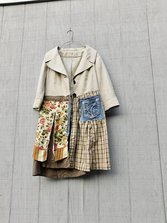 e21e860239aa Upcycled Clothing Romantic Shabby Chic Fall Jacket | Upcycled ...