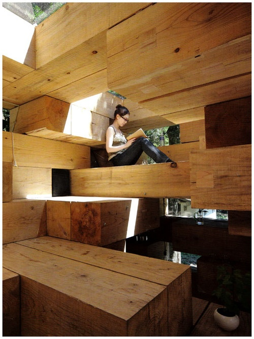 Wooden house fujimoto architectural creative pinterest beauty and the beast follow me - Maison wooden ...