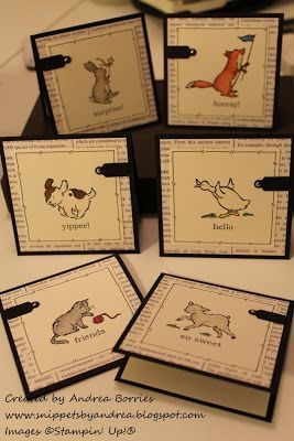 Snippets: Storybook Friends card set