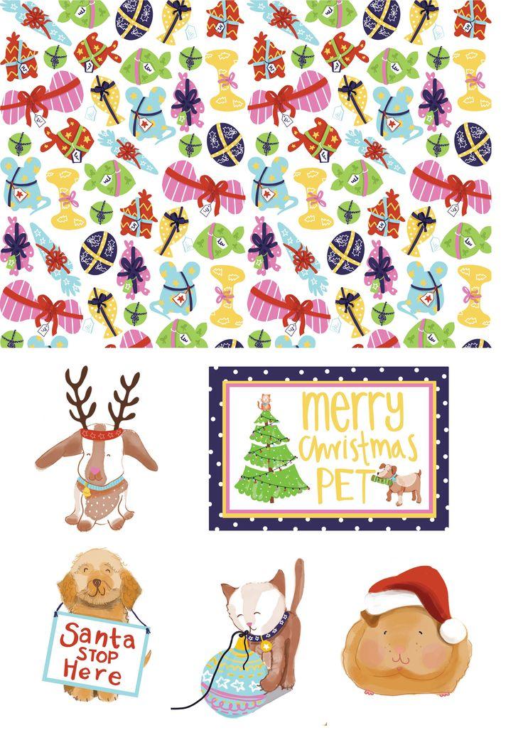 Free festive pet printables – Free Christmas printables