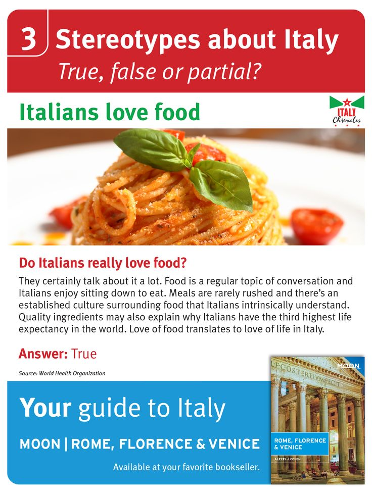 Are the Italian stereotypes really true?