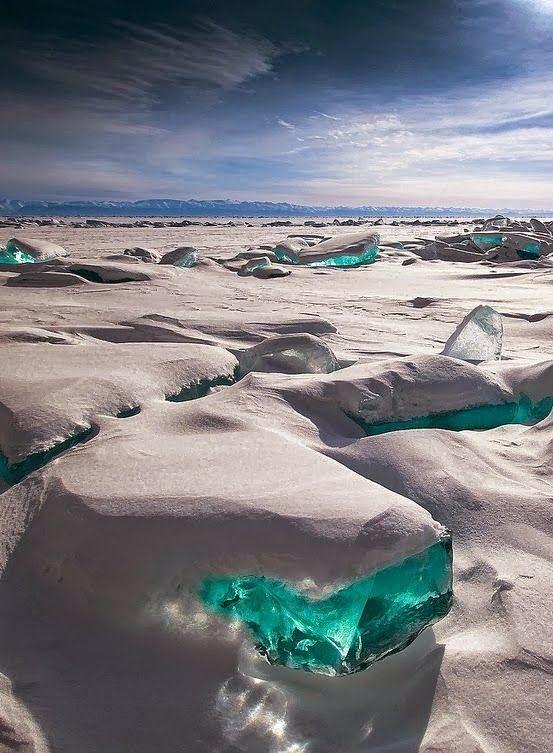 Turquoise Ice - Lake Baikal, Russia