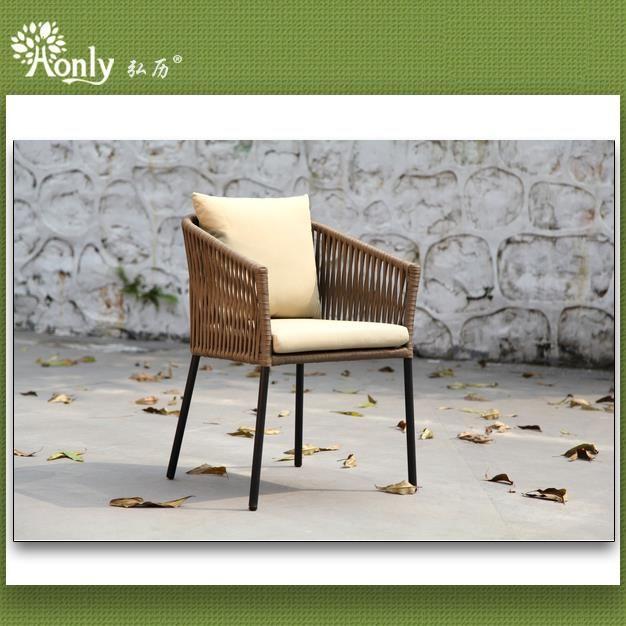 Aluminium Metall Frame Cafe Arm Stühle Gartengestaltung