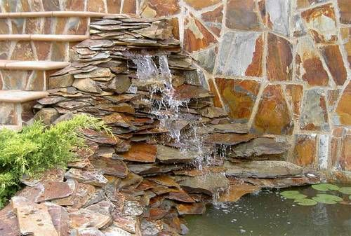 12 best fuentes y estanques de jardin images on pinterest for Cascadas de jardin